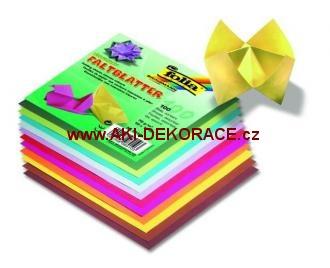Origami,100 listů, 15x15 cm, 70g – mix barev,