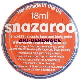 Barva na obličej SNAZAROO oranžová 18ml