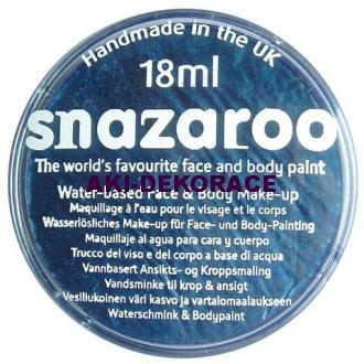 Barva na obličej SNAZAROO metalická modrá