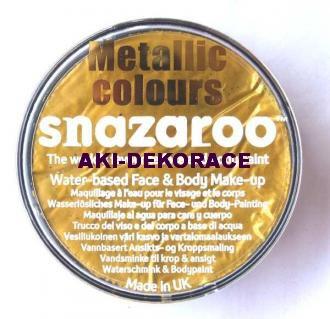 Barva na obličej SNAZAROO metalická zlatá 18ml