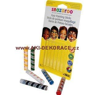 Snazaroo - barvy na obličej - Tužky na obličej - 6 barev