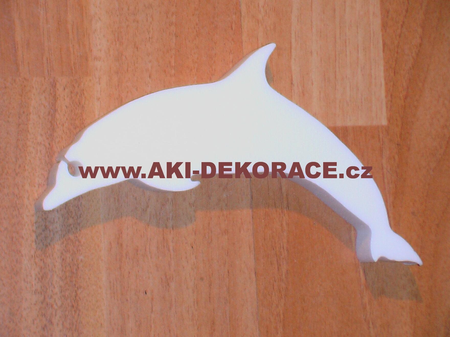Polystyrenový výřez DELFÍN 16x10cm