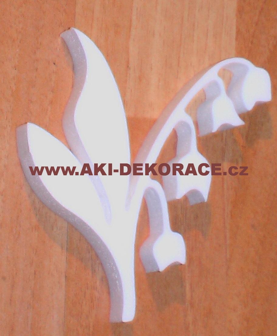 Polystyrenový výřez KONVALINKA 11x10cm