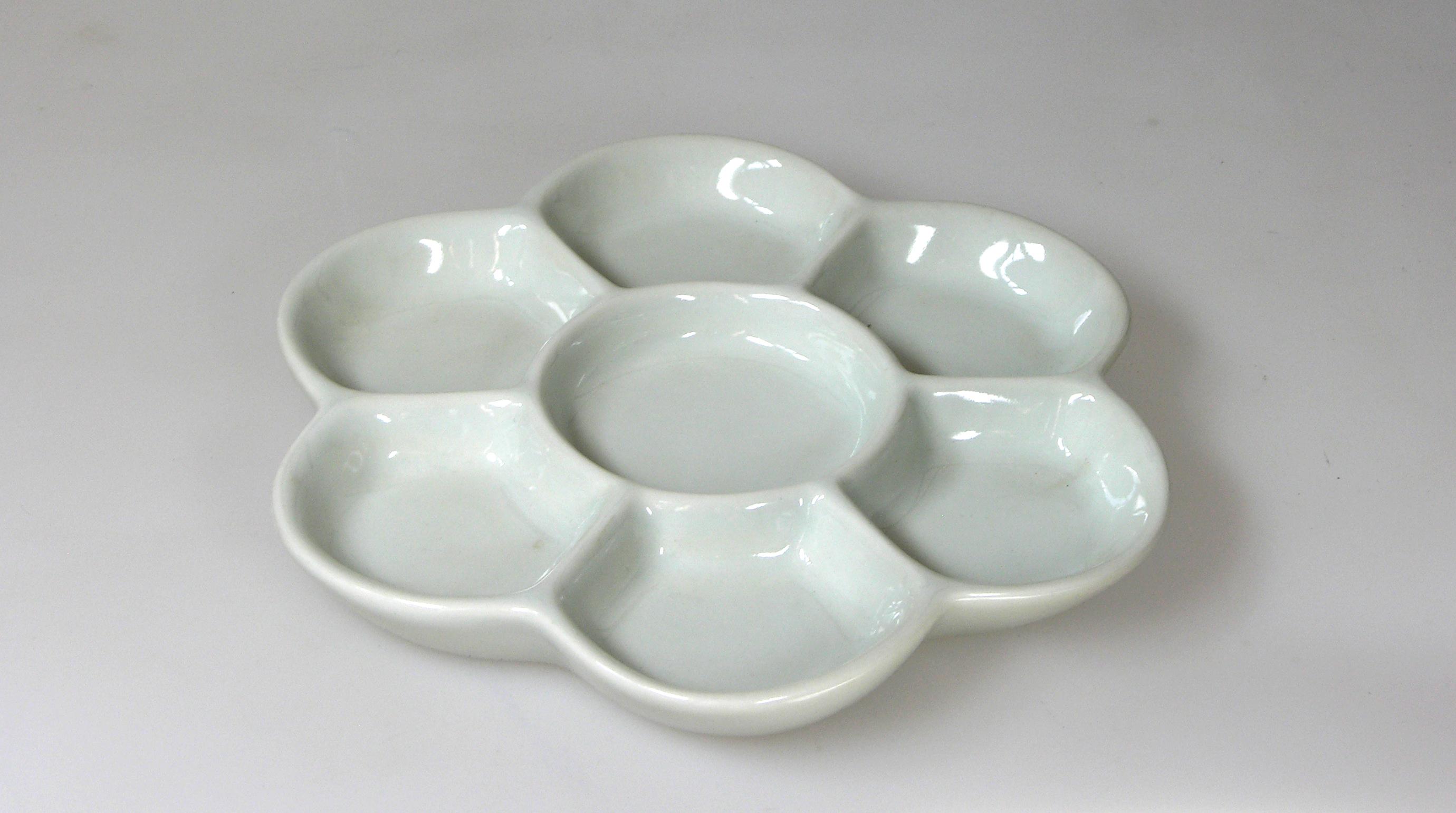 Porcelánová,paleta,bílá,155 mm,