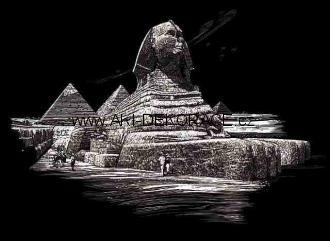 Sfinga,pyramida,věž,Škrabací,obrázek,STŘÍBRNÝ,