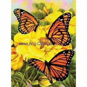 Motýlci,na,žlutých,kytkách,Malování,podle,čísel,
