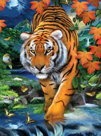 Tygr,Malování,podle,čísel,