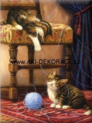 Hrající,si,koťata,Malování,podle,čísel,