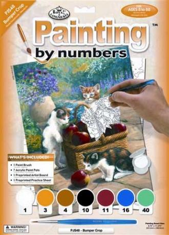 Kočičky u košíku,Malování,podle,čísel,