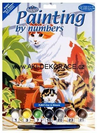Kočky,Malování,podle,čísel,
