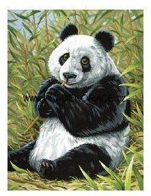 Panda,Malování,podle,čísel,