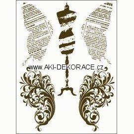 Gelová,razítka,Motýlí,křídla,krejčovská,panna,15x20,cm