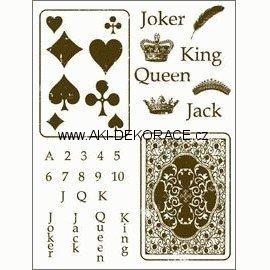 Gelová,razítka,Žolíkové,karty,15x20,cm