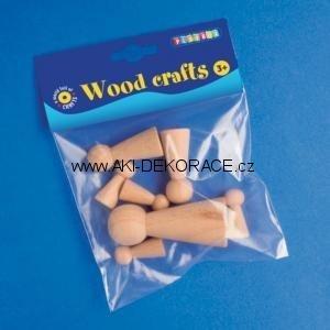 Dřevěné,kuželky,figurky,7ks,