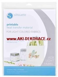 Potisknutelný nažehlovací papír pro světlý textil