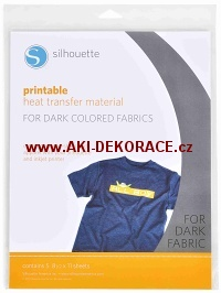 Potisknutelný nažehlovací papír pro tmavý textil