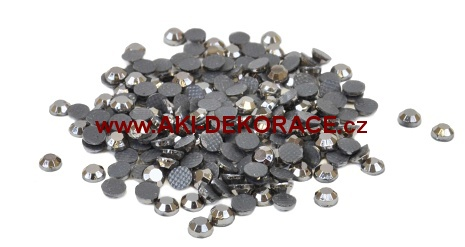 3mm,(10ss),Metalicky šedé ,nažehlovací,korálky,