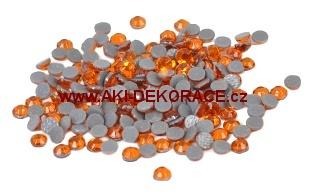 3mm,(10ss),Oranžové ,nažehlovací,korálky,