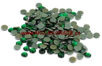 3mm,(10ss),Smaragd ,nažehlovací,korálky,