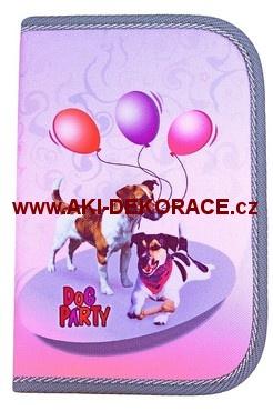 Školní,penál,1-klopa,Dog party,