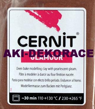 CERNIT GLAMOUR ,modelovací hmota ,HNĚDÁ, 62g