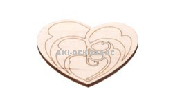 Magnet srdce 6- 60x50x3mm