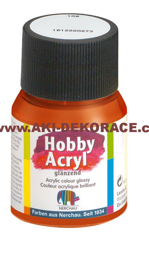 GLANZEND,RUMĚLKOVÁ ČERVEŇ,Hobby Acryl, 59ml,(306),