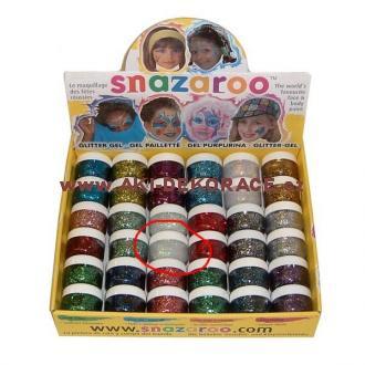 Snazaroo- barvy na obličej - Třpytivý gel BÍLÝ 12ml
