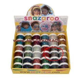 Snazaroo- barvy na obličej - Třpytivý gel TMAVĚ ČERVENÝ 12ml