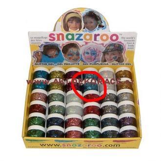 Snazaroo- barvy na obličej - Třpytivý gel SVĚTLE MODRÝ 12ml