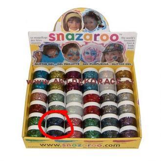 Snazaroo- barvy na obličej - Třpytivý gel TMAVĚ MODRÝ 12ml