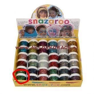 Snazaroo- barvy na obličej - Třpytivý gel ZELENÝ 12ml