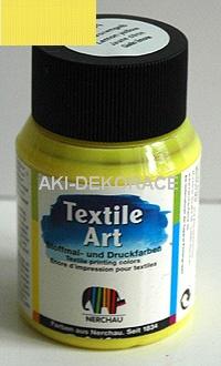 BARVA,SVĚTLÝ TEXTIL,Art citrónově žlutá,59ml,