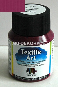BARVA NA SVĚTLÝ TEXTIL Art bordó 59ml