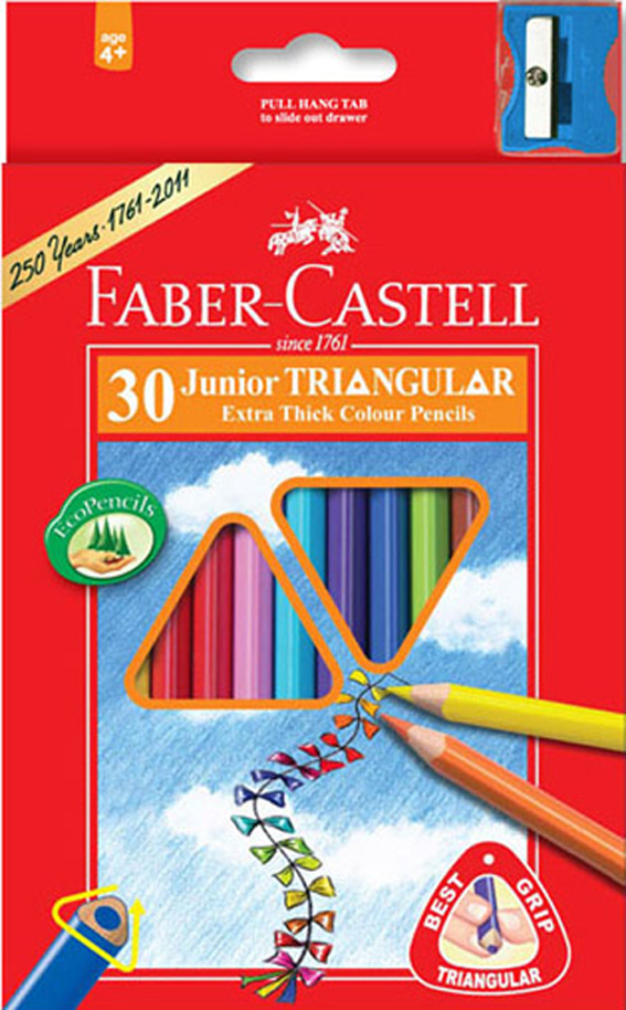 Pastelky Faber-Castell 30ks JUNIOR